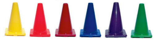 Colored 12in. Cones
