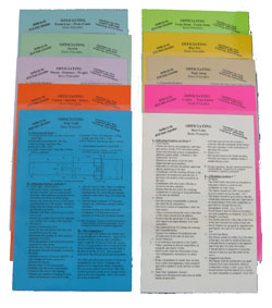 Officials Instruction Cards
