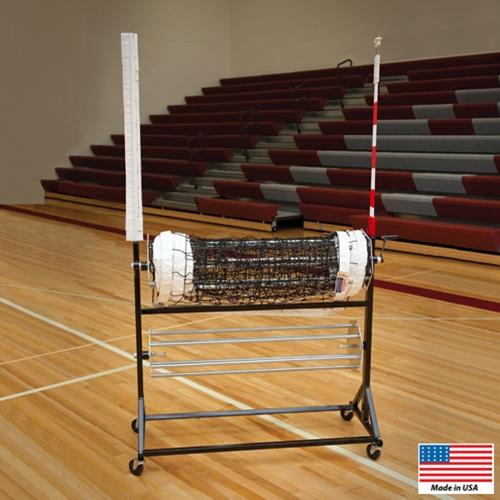 Volleyball Net Winder/Antenna Cart