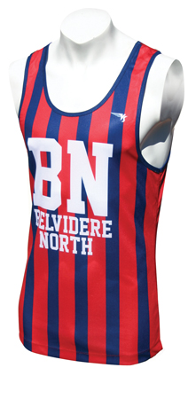 Striped Sublimated Singlet