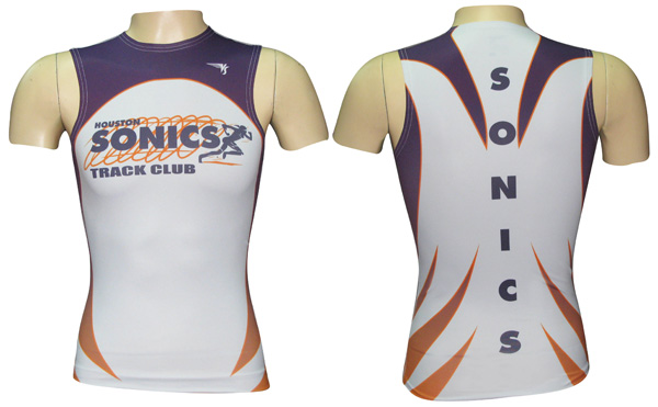 Sublimated Sleveless Compression Top