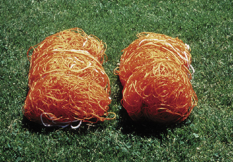 Polyethylene Orange Soccer Nets