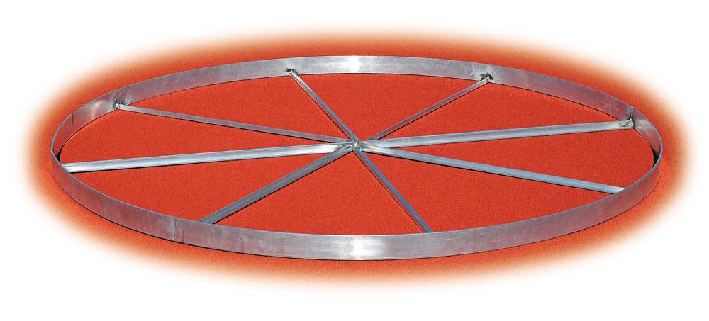 Cantabrian Webbed Aluminum Discus Ring