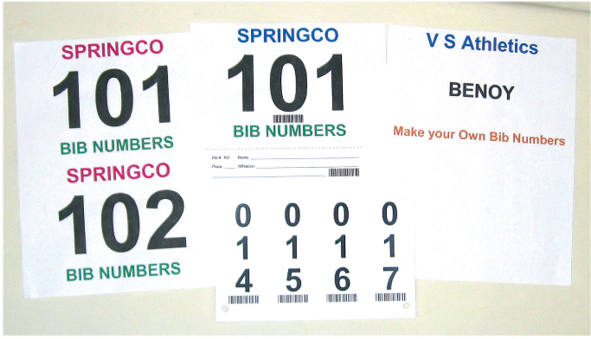 Make Your Own Bib Numbers - Digital