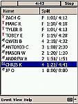 Pocket Team Timer Software